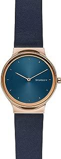 Skagen Women's Quartz Watch, Analog Display and Leather Strap SKW2706