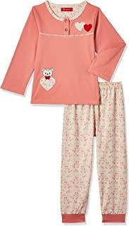 JOANNA Girl's Printed & Embroided Teddy Bear Pajama Set