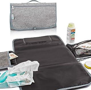 TXYFYP Wickelauflage Protector wasserdichte Reise Tragbare Atmungsaktive Piddle Pad Infant Solide Baby Supplies Kinderwagen Autositz Anti-Rutsch-PVC Hellblau