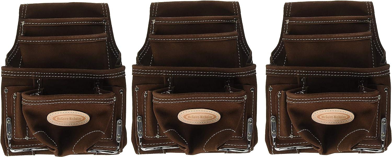 McGuire-Nicholas 688 Nail Tool Bag 10 テレビで話題 男女兼用 Pockets Su Genuine with