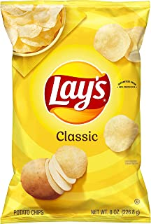 Lay's Potato Chips, Classic Flavor, 8oz Bag (Packaging May Vary)