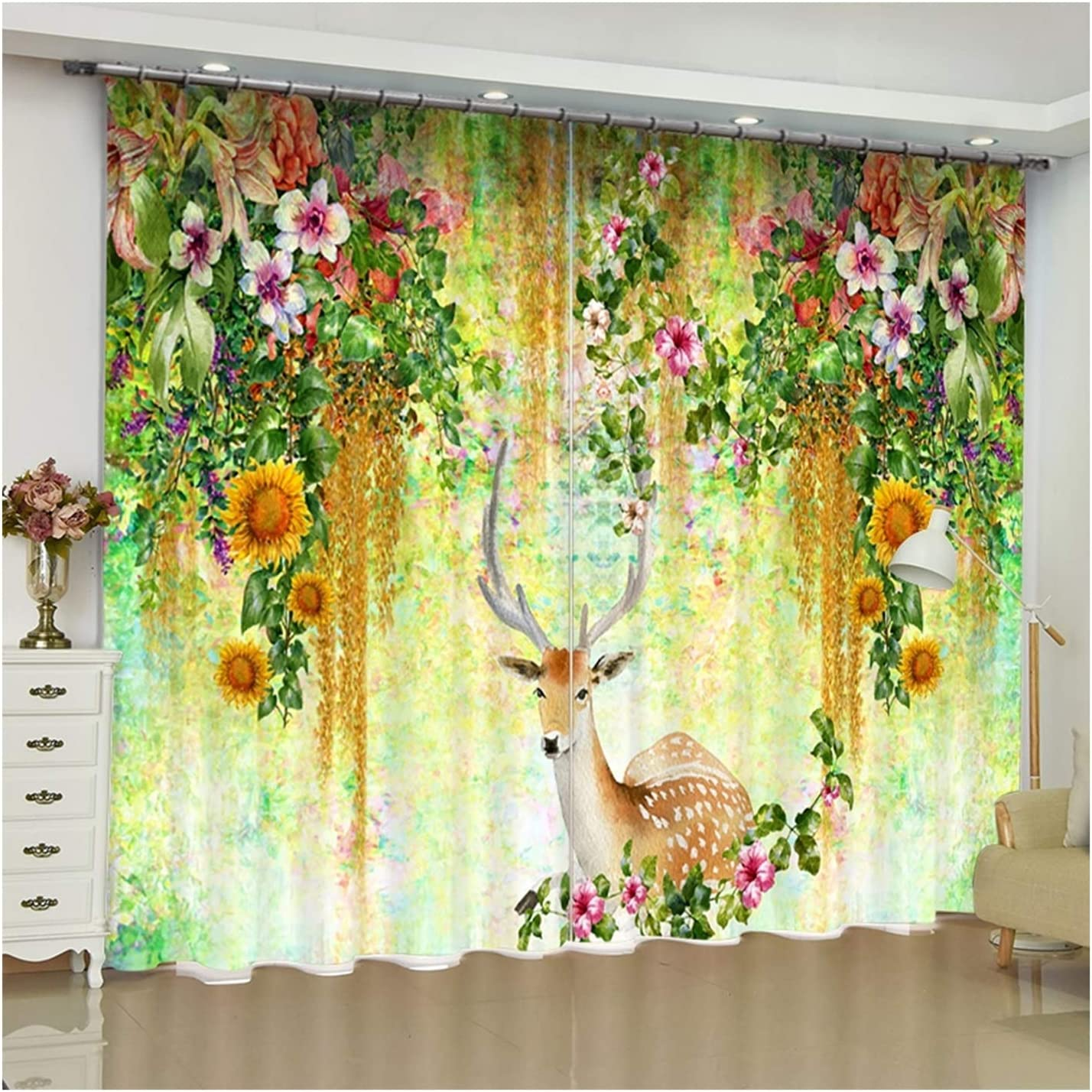 Daesar Quantity limited Curtain Drapes for New sales Living Panels Darkening Room