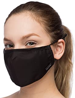 Debrief Me Anti Air Respirator Breathable Pollution Masks Carbon Activated Filtration (1 Mask+4 Filters) N95 Anti Bacterial Face Pollution Mask -Reusable Reusable comfy Cotto(Black)