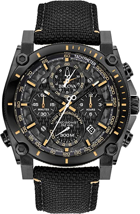 Orologio cronografo bulova quarzo uomo con cinturino in nylon 98b318