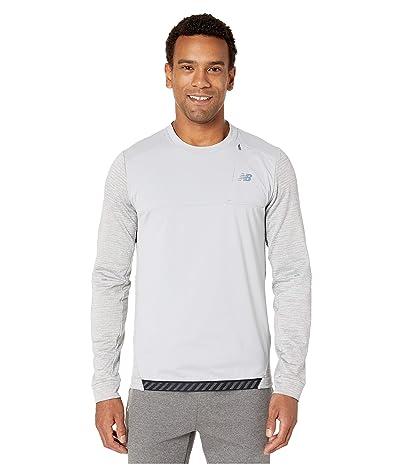 New Balance Q Speed Run Crew Pullover (Athletic Grey) Men