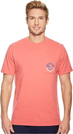 Vineyard Vines - Short Sleeve Heather Tuna USA Pocket Tee