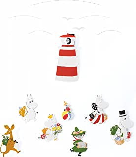 072689440 Moomin Version II Hanging Nursery Mobile - 23 Inches - Handmade in Denmark  by Flensted