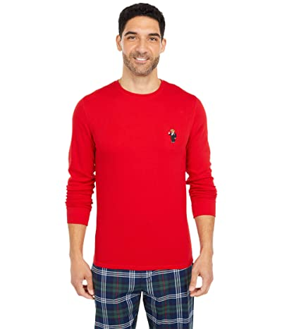 Polo Ralph Lauren Midweight Waffle Long Sleeve Crew (RL2000 Red/Martini Bear) Men