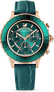SWAROVSKI Women's Octea Lux Chrono Crystal Watch Collection, Leather Strap