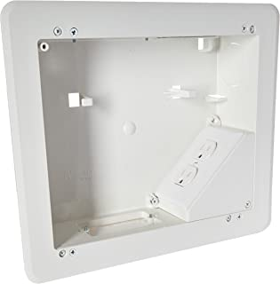 ARLINGTON INDUSTRIES TVB810 2477659 4-Gang Recessed Tv Box for Power and Low Voltage, 8