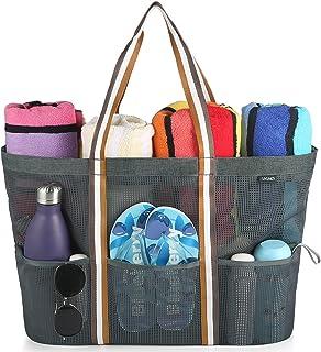 GAGAKU Bolsa Extra Grande de Malla de Playa, Bolsos Totes para Mujer Bolsa de almacenamiento para Playa y Bañarse y Natación