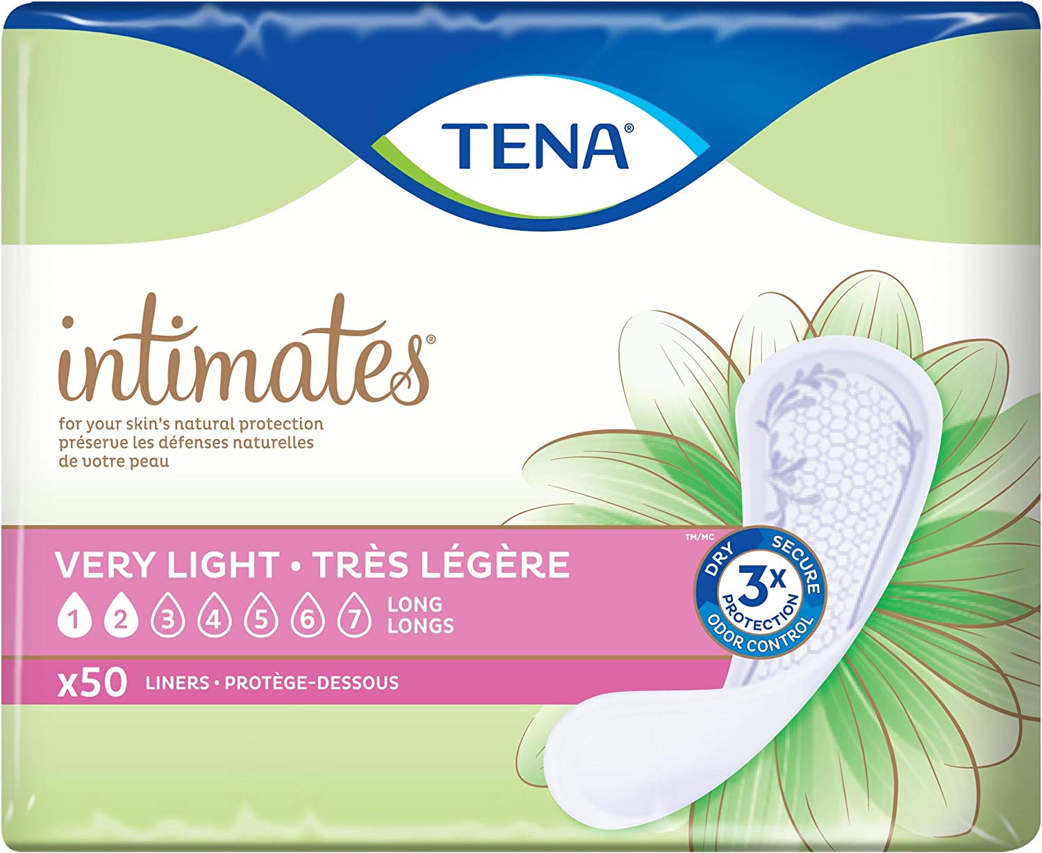 Tena Incontinence Liners for Women Max 78% OFF Long 50 of ea 1 Count Pack Quantity limited