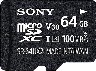 بطاقة ذاكرة سكيور ديجيتال ميكرواس دي اكس سي سعة 64 جيجا من سوني - الفئة 10 بسرعة UHS-I (قراءة 95 ميجا في الثانية، تسجيل 70...