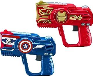 eKids Avengers Endgame Laser Tag for Kids Infared Lazer Tag Blasters Lights Up & Vibrates When Hit