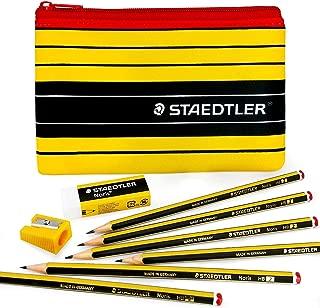 Staedtler Noris Pencil Case Set - 6 x Noris 120 HB Pencils + Staedtler Noris Eraser & Sharpener