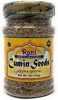 Rani Cumin Seeds Whole (Jeera) Spice 3oz (85g) PET Jar ~ All Natural | Gluten Friendly Ingredients | NON-GMO | Vegan | Indian Origin