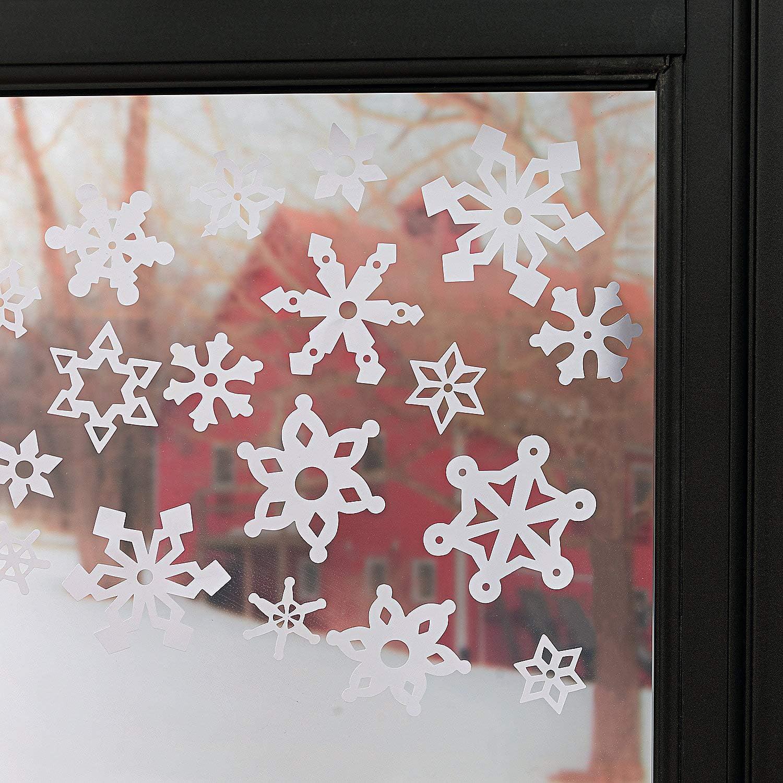Christmas Snowflakes Stickers 76 PCS Window Decorations Shop Home Reusable