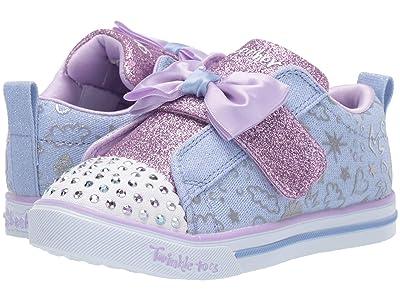 SKECHERS KIDS Sparkle Lite 20261N (Toddler/Little Kid) (Light Blue/Lavendar) Girl