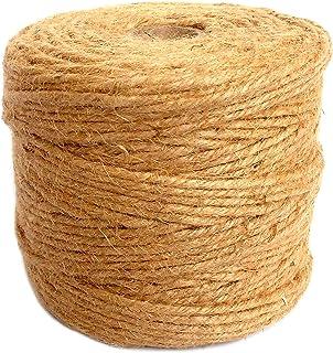 ANSIO Jute touw, 500 voet, Perfect voor Decoratie Tuin Bloemenkunde DIY Arts Bundelen Ambachten & Wrapping 500 ft 6 ply 3 ...