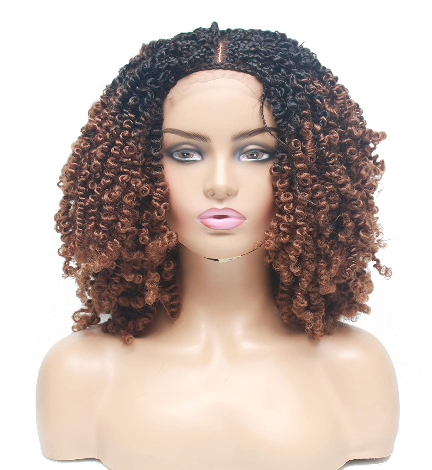 Lace closure Branded goods braided wig- Braided for [Alternative dealer] wigs women- black Passion