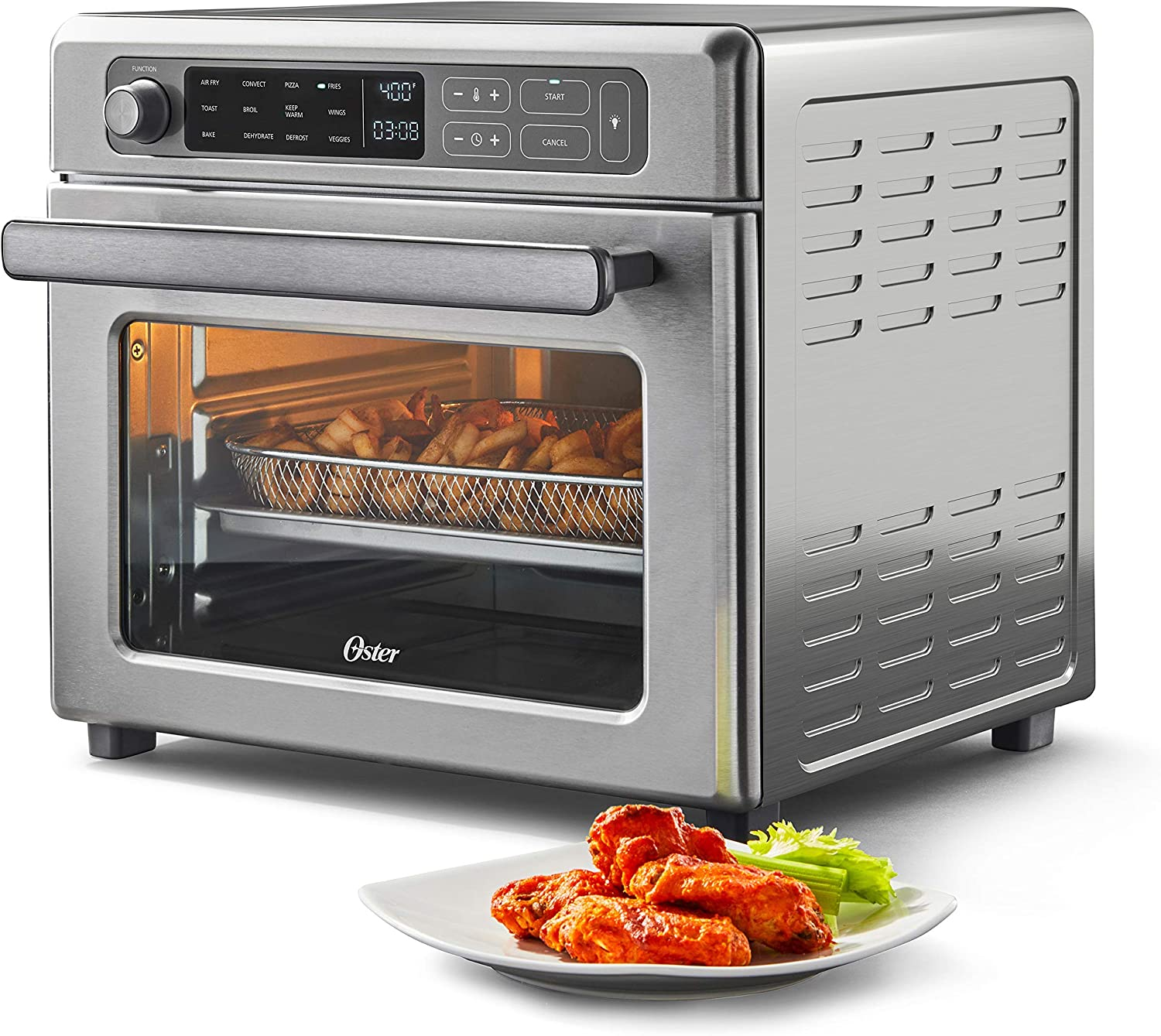 Oster Digital Air San Diego Mall Fryer Oven with 1 Manufacturer direct delivery RapidCrisp Stainless Steel