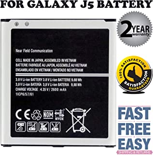 Replacement Battery Compatible for Galaxy Grand Prime Battery EB-BG530BBU SM-G530 J5 (2600mAh)