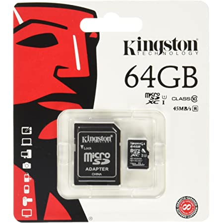 100MBs Works with Kingston SanFlash Kingston 64GB React MicroSDXC for HP 8 with SD Adapter
