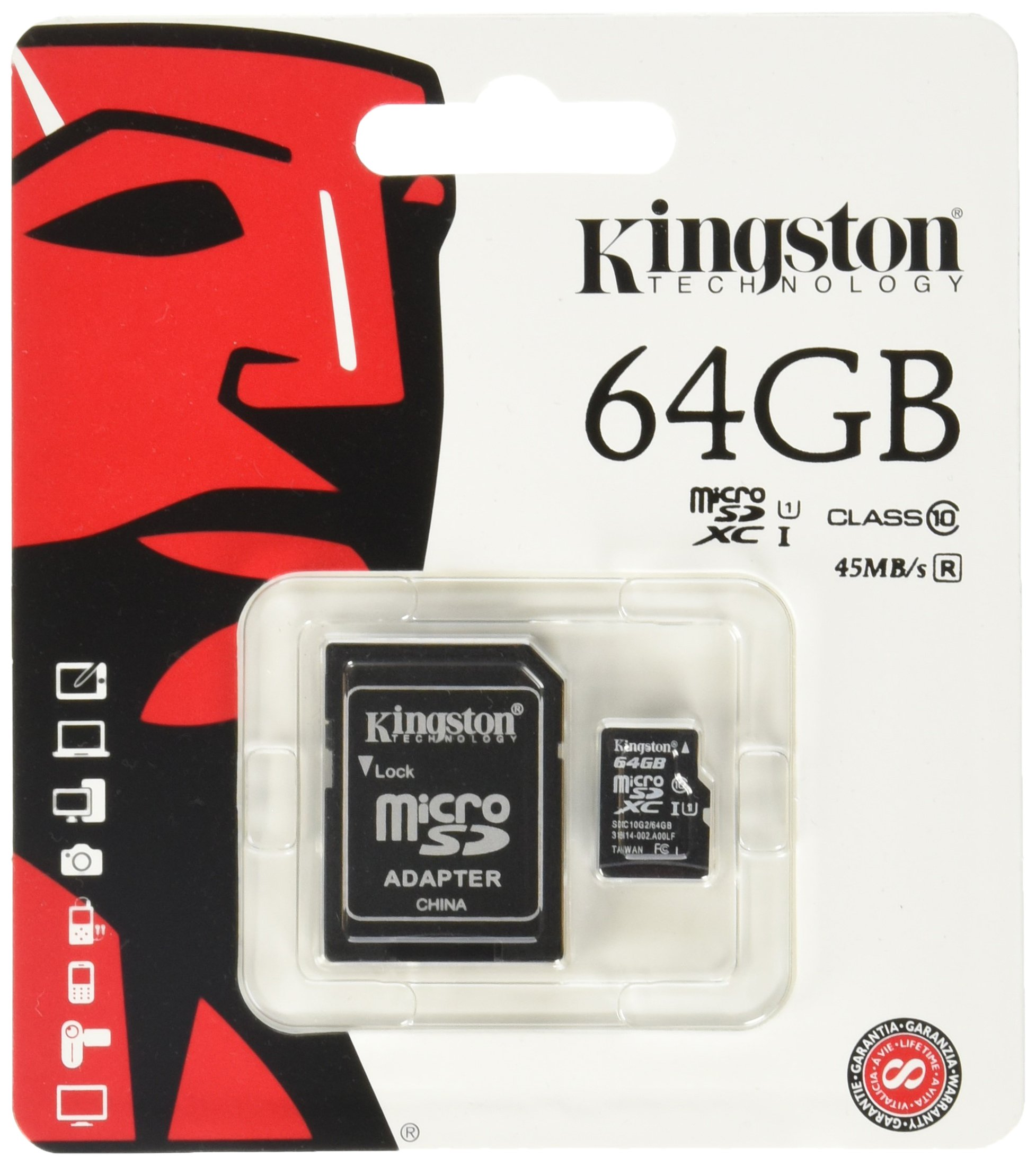 80MBs Works with Kingston Professional Kingston 64GB for Celkon Campus Crown Q40 MicroSDXC Card Custom Verified by SanFlash.