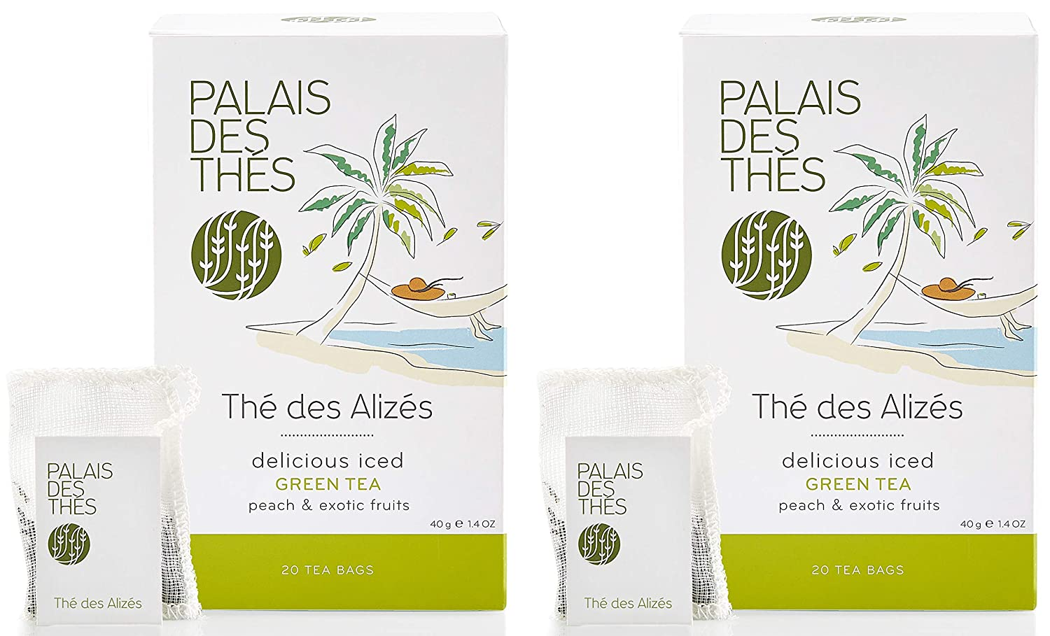Palais des Thés Thé Limited Special Price Alizes Finally popular brand Green Peach and Ex Tea with