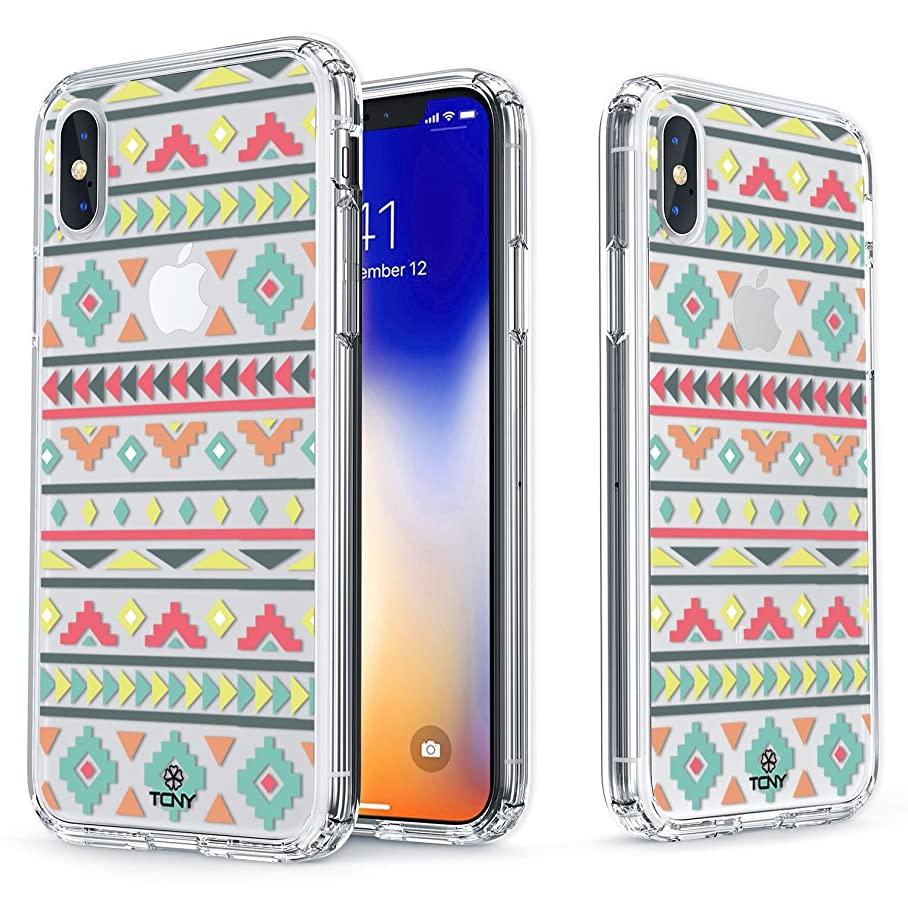 True Color Case Compatible with iPhone Xr Aztec Case, True Color Clear-Shield Cute Girly Pastel Aztec Pattern Printed on Transparent Back, Soft & Hard Slim Shockproof Dustproof Protective Bumper Cover u547555330