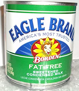 Borden, Eagle Brand, Condensed Milk, Fat Free, 14oz Can (Pack of