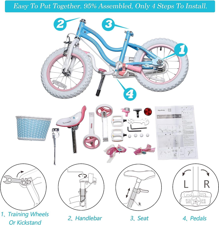 RoyalBaby Girls Kids Bike Stargirl 12 14 16 18 Inch Bicycle 3-9 ...