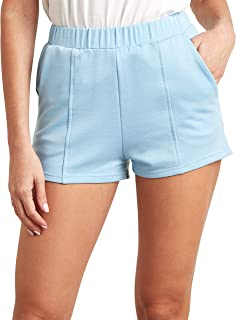Plain Runner Shorts with Elasticated Waistband 80389503 For Women Closet by Styli