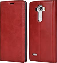 LG G4 Case,Mulbess PU Leather Wallet Case with Kick Stand for LG G4,Wine Red