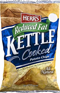 Herr's Reduced Fat Kettle Cooked Potato Chips - 8 Oz. (4 Bags)