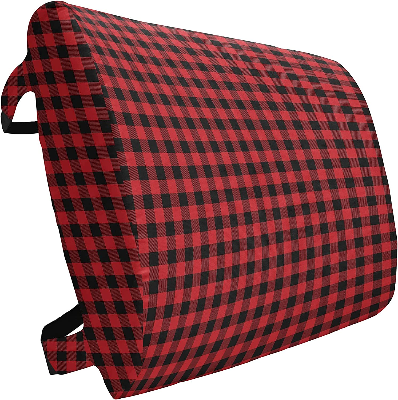 Ambesonne Albuquerque Mall Weekly update Plaid Lumbar Pillow Fashion Lumberjack Buffalo Checks