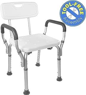 Vaunn Medical Tool-Free Assembly Spa Bathtub Shower Lift Chair, Portable Bath Seat,..