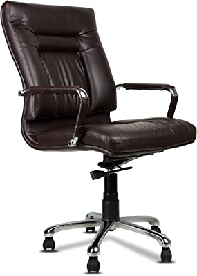 Fabsy Interiors Leatherette Office Chair, Brown