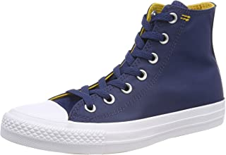 Chuck Taylor All Star Hi Fashion Sneakers Navy/Mineral Yellow/White Size 6.5 Men/8.5 Women