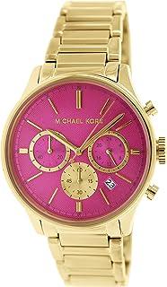 ساعة كوارتز من مايكل كورس للنساء بشاشة كرونوغراف وسوار من ستانلس ستيل، طراز MK5909
