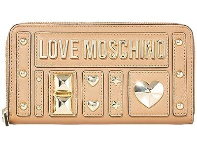 LOVE Moschino Love and More Zip Wallet (Camel PU) Handbags