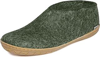 Glerups AR Unisex Women's/Men's 100% Natural Wool Shoe with Rubber Sole (47 M EU, Grey)