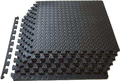 LCSW 48 SQ FT Enclavamiento EVA Espuma esterillas Ejercicio Gimnasio Almohadilla Protectora (Color : Black)
