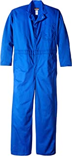 1b928148b545 Bulwark Men s Flame Resistant 9 Oz Twill Cotton Classic Coverall with  Hemmed Sleeves