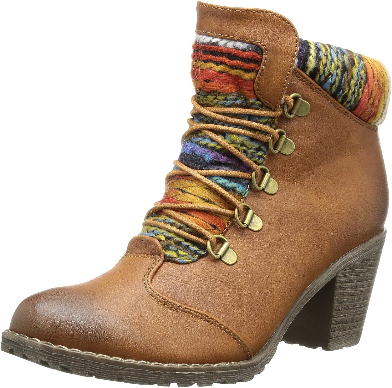 Rieker Women's Hlf S Multimillionire Cognc Ornge Synthetik Snow Boots