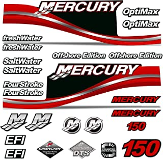 AMR Racing Outboard Engine Motor Sticker Decal Graphics kit for Mercury 150 - Red