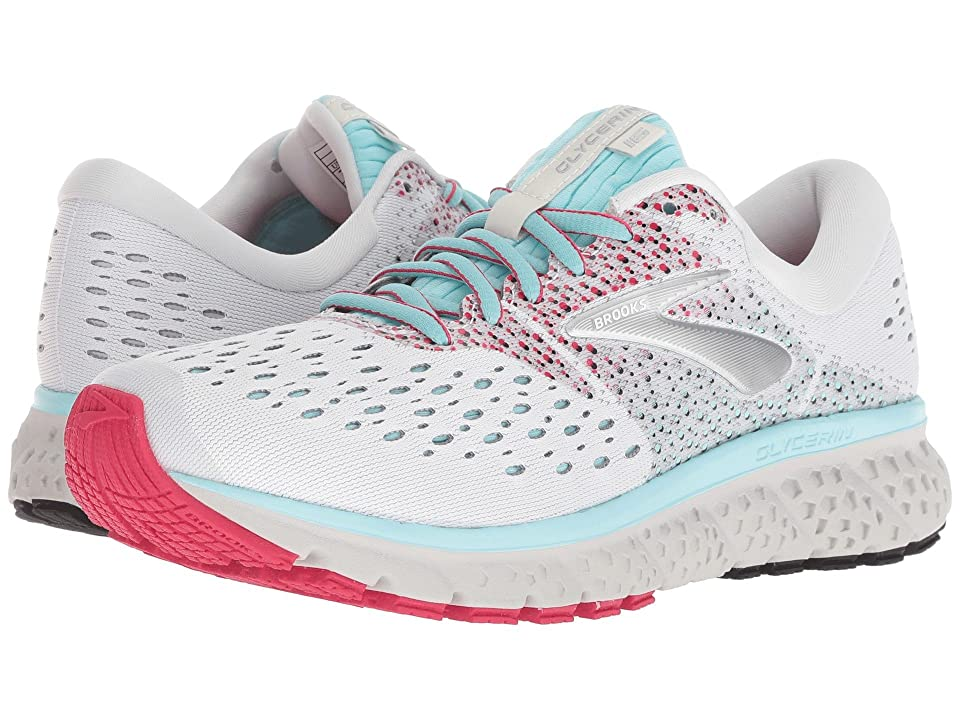 Brooks Glycerin 16 (White/Blue/Pink) Women