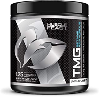 Sponsored Ad - Pure Betaine Anhydrous Trimethylglycine (TMG) Powder by Muscle Feast (300 grams)