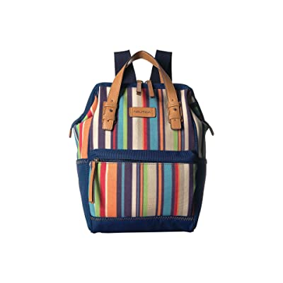 Nautica To Pool For School (Bold Stripe Navy) Backpack Bags