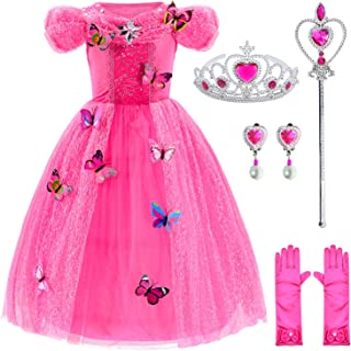 Princess Costume for Girls Dress Up with Accessories 3-10 Years